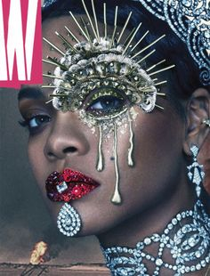 great portrait of rihanna for w magazine rihanna w magazine jewelry magazine cover makeup