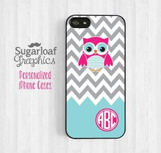 Cute Owl Personalized iPhone 5 Case iPhone 5s by SugarloafGraphics, $14.95