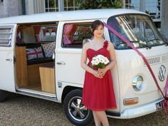 Lottie- white VW wedding camper from Dorset Dubhire