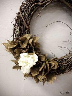 burlap decorated wreath