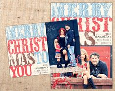 rustic / western christmas card