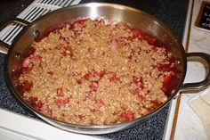 Our Sunday Cafe: Strawberry Rhubarb Crisp