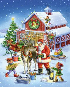 Ready Reindeer Jigsaw Puzzle | Christmas - Santa | Vermont Christmas Co. VT Holiday Gift Shop