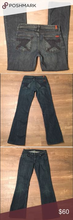 7 For All Mankind Flynt Jeans Gently worn , size 27 , inseam is 30 inches 🌟REASONABLE OFFERS ACCEPTED🌟 7 For All Mankind Jeans