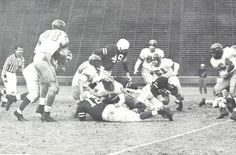 1952 Oregon-Stanford football game in Palo Alto, CA. From the 1953 Oregana (University of Oregon yearbook). www.CampusAttic.com
