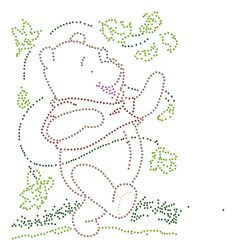 winnie the pooh String Art Templates, String Art Patterns, Embroidery Cards, Embroidery Designs, Quilting Stitch Patterns, Bobble Crochet, Rhinestone Crafts, Cross Stitch Cards, Pin Art