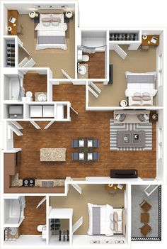 📌 50 Model House Plans for Your Inspiration - House Floor Plans « Sims House Plans, House Layout Plans, Dream House Plans, Modern House Plans, House Layouts, Small House Plans, House Floor Plans, Sims House Design, Small House Design
