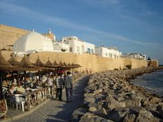 Hammamet, Tunisia Africa where we honeymooned   that's exactly where we walked too
