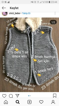 The Foggy Day Seed Stitch Cowl is a soft and cozy knit cowl pattern ideal for beginners. Baby Knitting Patterns, Knitting For Kids, Crochet Slippers, Knit Crochet, Baby Vest, Vest Pattern, Instagram Outfits, Baby Outfits, Knitwear