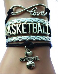 Love Basketball Bracelet - Silver/Black #interestingsportsmemes Basketball Motivation, Basketball Memes, Basketball Is Life, Basketball Workouts, Basketball Skills, College Basketball, Basketball Players, Basketball Stuff, Basketball Shooting