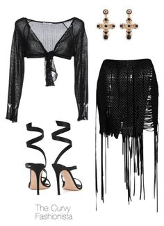 """""""Untitled #994"""" by thecurvyfashionistaa ❤ liked on Polyvore featuring Magda Butrym, B.yu and Gianvito Rossi"""
