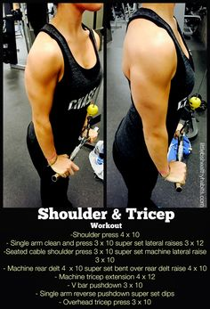 Shoulder and Tricep Workout // Winter Workout Plan - Little B's Healthy Habits