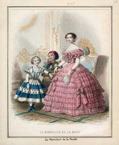 In the Swan's Shadow: Le Moniteur de la Mode, December 1857.