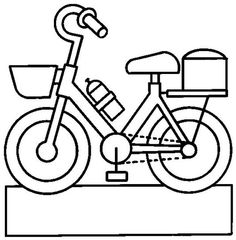 Felt Bikes, Learn To Sketch, Boy Printable, Classroom Labels, Transportation Theme, Envelope Art, Busy Book, Stencil Designs, Free Coloring Pages