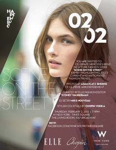 flyer design promotional marketing event elle new york fashion week