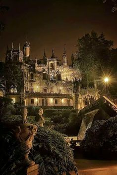 Sintra at night, Portugal
