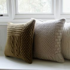 Hand-knitted Cushions 40 x 40