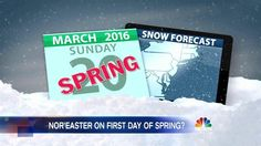 East Coast Could See Snow on First Day of Spring - NBC News