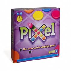 Pixel - Hét uitdagende strategiespel. Verplaats de schuiven, leg je kleur op het snijpunt en maak drie-op-een-rij terwijl je andere spelers blokkeert.