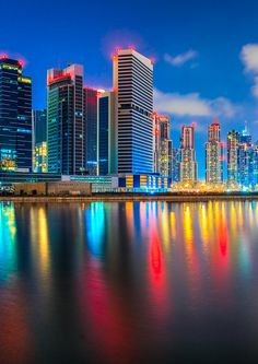 Why You Should NOT Be Afraid To Visit Dubai! If you are thinking of visiting Dubai but feel a little uneasy about traveling to the Middle East, you should read this post. Visit Dubai, Dubai City, Dubai Travel, Scenic Photography, City Buildings, Best Cities, Science And Nature, City Lights, Vacation Spots