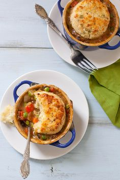 vegetarian pot pie with feta scallion biscuit topping by annieseats