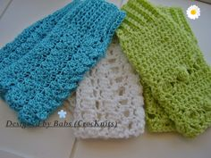 Set of 3 Patterns for the price of one Crochet Wrist-Warmers