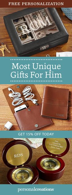 Delight fathers, sons, grandfathers, and friends with bestsellers for him. From accessories for golfers to keepsakes for sports fans to BBQ tools for grillers, you'll find the perfect gifts. Get 15% off your order today.