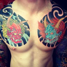 Japanese Chest Plates by Adam Craft - The Tattooed Heart