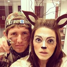 Deer and Hunter halloween costume....perfect if Ray would ever dress up.