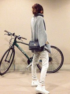 mayumi│UNIQLO'sPantsLooksWEAR Fashion Pants, Look Fashion, Daily Fashion, Winter Fashion, Womens Fashion, Fashion Outfits, Moda Converse, Cozy Winter Outfits, Japanese Street Fashion
