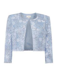 Linea Organza floral jacket, Blue