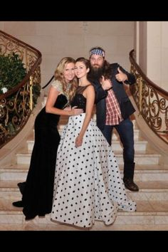Duck Dynasty's Willie, Korie, and Sadie at Sadie's fashion show