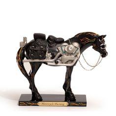 Painted Ponies Motorcycle Mustang Figurine