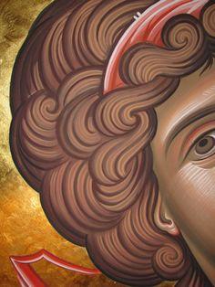 Byzantine Icons, Byzantine Art, Religious Icons, Religious Art, Writing Icon, History Icon, Face Icon, Religious Paintings, Biblical Art
