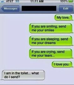 Romantic Text Message gone wrong!
