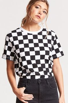 df3e652915c Checkered Print Tee. Checkered Shirt OutfitPiece Of ClothingEveryday FashionGraphic  TeesCasual ...