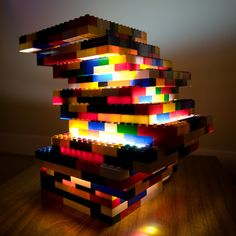DIY Lego Lamp... gotta figure this out!