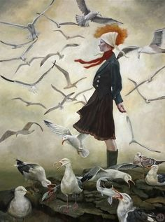 """""""On the Point"""" by Andrea Kowch"""