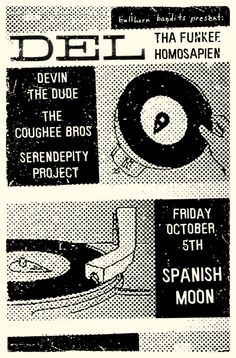 GigPosters.com - Del Tha Funkee Homosapien - Devin The Dude - Coughee Bros, The - Serendepity Project
