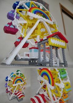 Big Wheel perler beads by pasta