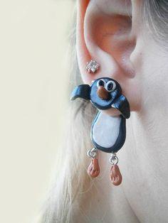 fake gauge plug two part earrings black by JEWELLERYandPLEASURE, $16.00
