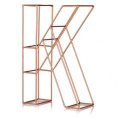 Copper Alphabet Letter | Oliver Bonas