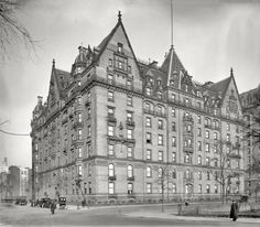 The Dakota Apartments, Central Park West and West 72nd St, New York 1912. Built 1894