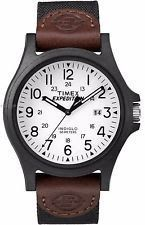 Timex TW4B08200 Men's Expedition Camper Military Indiglo White Dial Analog Watch
