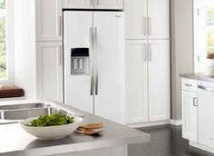 """White Ice Collection"" by Whirlpool. Recently introduced at KBIS as the next ""stainless Steel"" . They also have a ""Black Ice""."