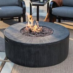 Red Ember Whitehall 40 in. Gas Fire Pit - The Red Ember Whitehall 40 in. Gas Fire Pit is a low-to-the-ground fire pit that makes for cozy conversation at any time of the year. Fire Pit Bbq, Diy Fire Pit, Fire Pit Backyard, Gas Fire Pits, Fire Pit Walmart, Porches, Camping Gaz, Gas Fire Table, Round Fire Pit Table