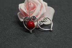 x10 cadres de perle coeur et arabesques en métal argenté