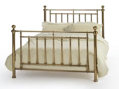 Presented here in a flawless finish, Solomon radiates richness and craftsmanship of the highest order. Bed Frames Uk, Brass Bed, Brass Metal, Buy Bed, Beds For Sale, Metal Beds, Bed Mattress, Bedding Shop