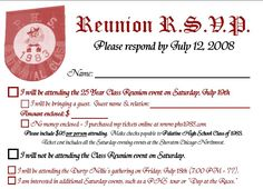 class reunion ideas | Below are low resolution images of the invitations: