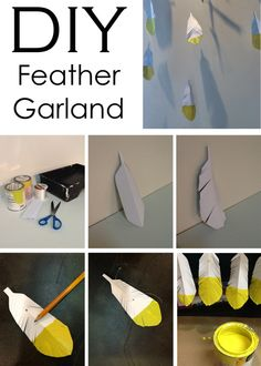 #DIY : Feather Garland #SpringStyle #HomeDecor #InteriorDesign from Mountain Home Decor in #Whistler. Visit our blog! www.mountainhomedecor.wordpress.com